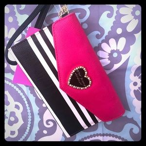 Betsy Johnson clutch wallet